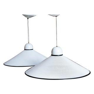 Vintage Ron Rezek Perforated Pendant Lamps - Pair