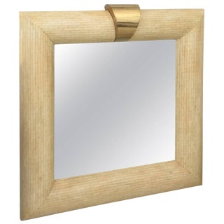 Mid-Century Bone Wall Mirror
