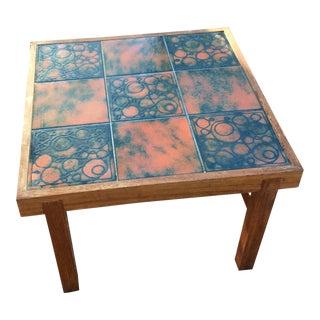 Danish Modern Tile Teak Table Trioh