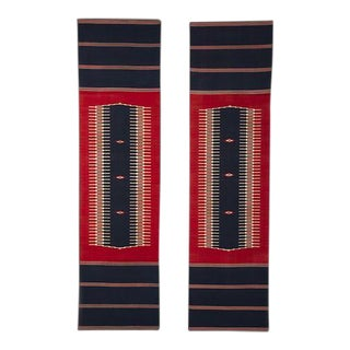 Vintage French Art Deco Woven Textiles circa 1930 Evoking the American Southwest