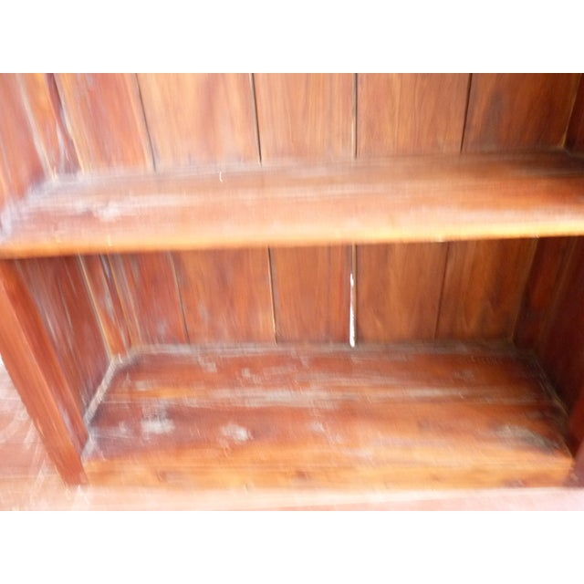 Rustic Wooden Bookcase - Image 10 of 11