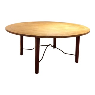 Round Maple Farmhouse Dining Table