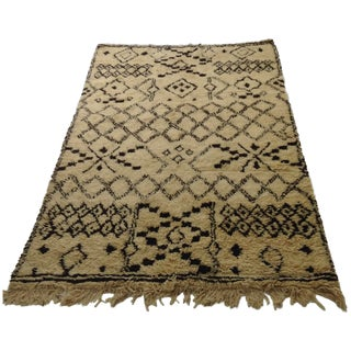 Authentic Moroccan Beni Ourain Rug - 5′5″ × 8′9″
