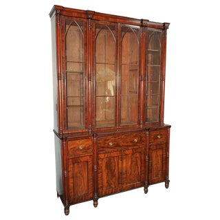 Outstanding English Sheraton Secretaire Bookcase