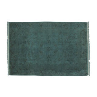 Leon Banilivi Over-Dyed Green Wool Rug - 6' X 4'3""
