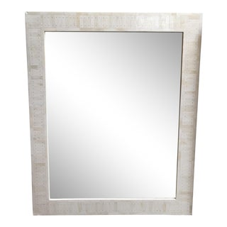White Bone & Silver Mosaic Encrusted Mirror
