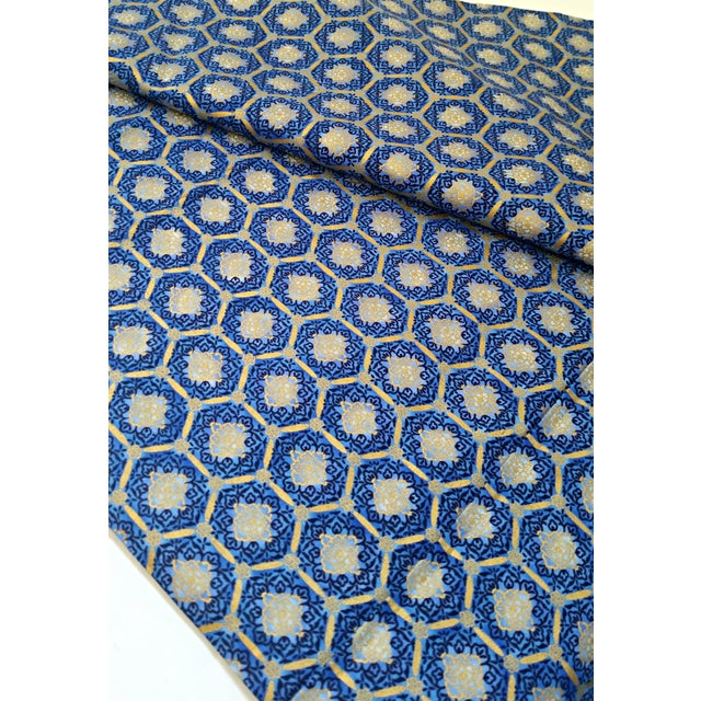 Robert Kaufman Blue Gold Imperial Fabric - 3.5 Yds - Image 3 of 4