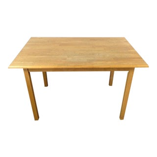 Contemporary Carved Oak Dining Table