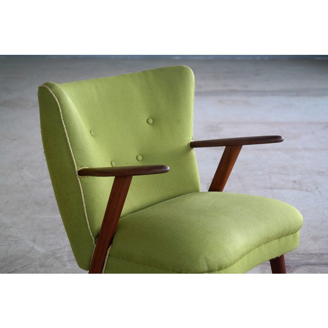 Danish Mid-Century Easy Chair in the Style of Madsen and Schubel - Image 5 of 9