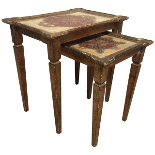 19th-Century Italian Nesting Tables- A Pair