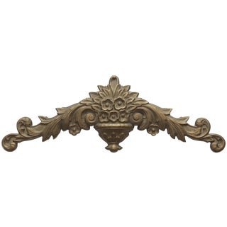 Vintage Solid Brass Architectural Wall Hanging