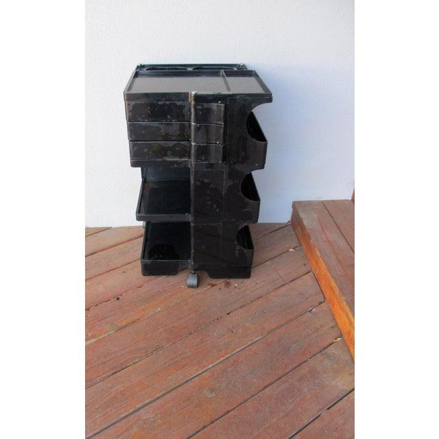 Joe Colombo Mid-Century Italian Black Boby Cart - Image 10 of 11