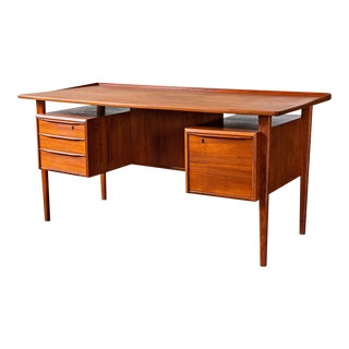 Peter Lovig Nielsen Danish Teak Floating Top Desk