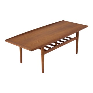Grete Jalk Coffee Table With Slatted Shelf