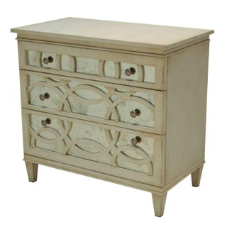 Sarreid LTD Virna White Mirrored Chest