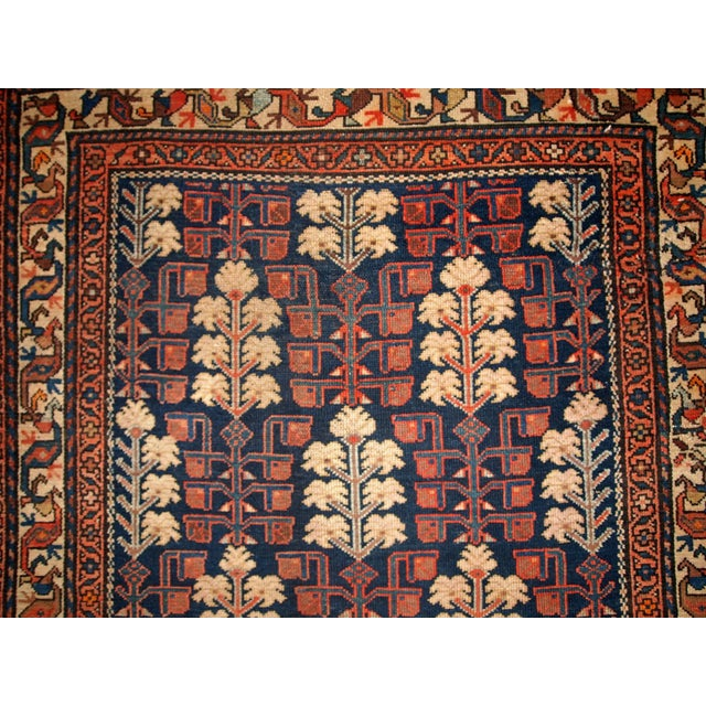 1880s Hand Made Antique Persian Kurdish Rug - 2′10″ × 5′10″ - Image 5 of 6