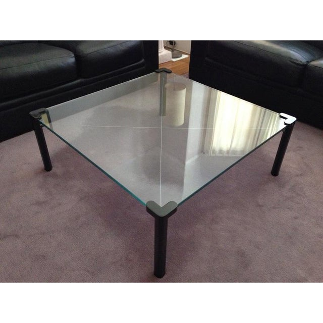 Contemporary Square Top Frosted Glass Coffee Table Chairish