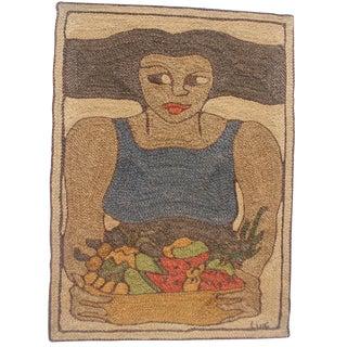 Handwoven Maguey Fiber Art Tapestry