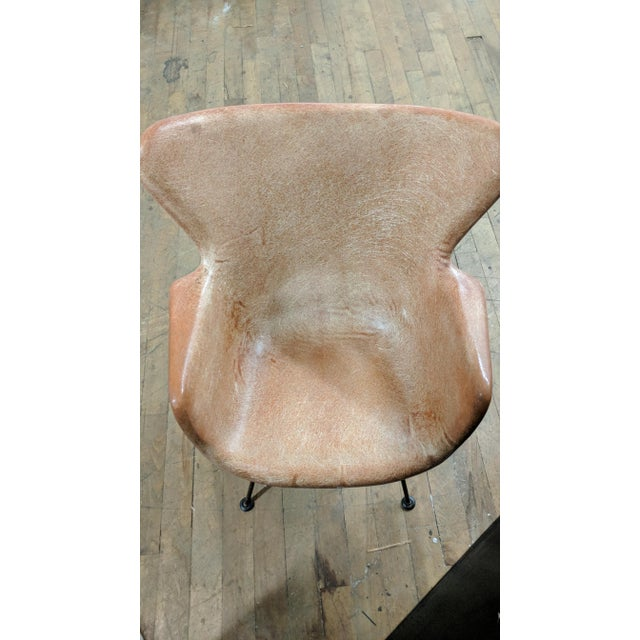 Lawrence Peabody for Selig Mid-Century Wingback Fiberglass Chair - Image 7 of 11