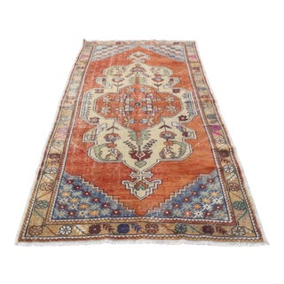 Handmade Turkish Traditional Floor Antique Rug - 4′4″ × 8′10″
