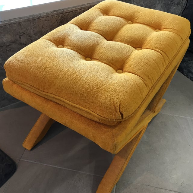 Vintage Yellow X Bench - Image 4 of 7