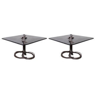 Rare Pair of Dining Tables by Albert Paley