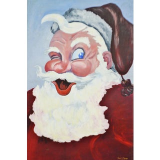 1953 Vintage Signed Santa Claus Painting