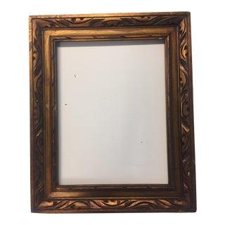Vintage Mid-Century Carved Gold Frame