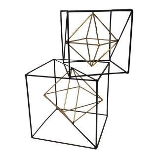 Geometric Metal Cube - a Pair
