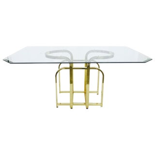 Mid-Century Modern Glass & Brass Table