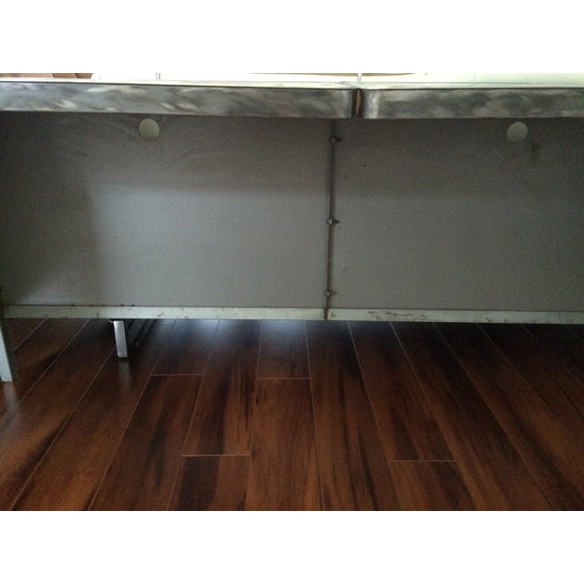 Vintage Steel Industrial Console Table - Image 3 of 7
