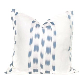 Schumacher Light Blue Izmir Ikat Pillow Cover