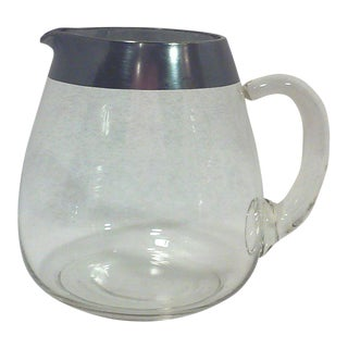 Dorothy Thorpe Silver Rim Milk or Cocktail Pitcher