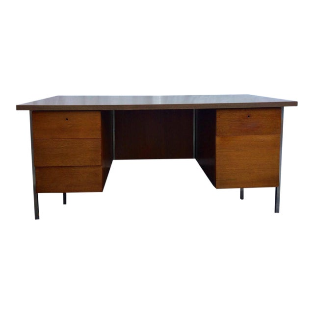 Knoll associates mid century executive desk chairish for Knoll associates