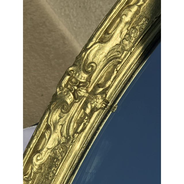 Image of Louis XVI-Style Gold Gilded Mirror