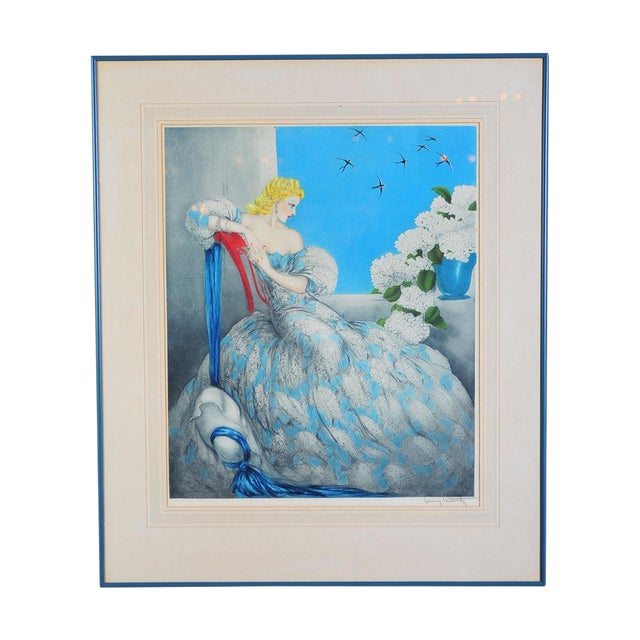 """Symphony in Blue"" Etching by Louis Icart - Image 1 of 9"