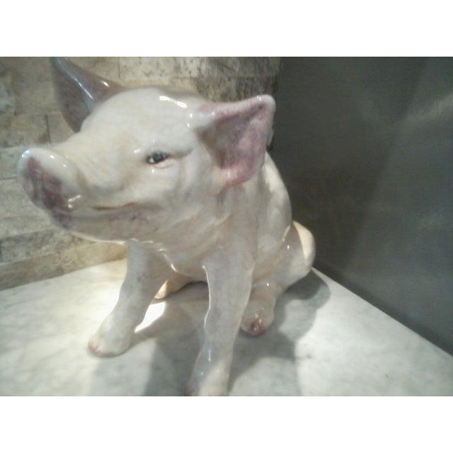 Crackle Glaze Ceramic Pig - Image 3 of 3