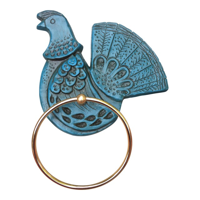 Syroco Wall Mount Blue Bird Towel Ring - Image 1 of 3