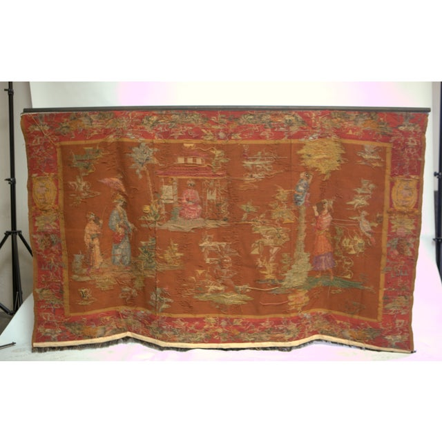 Antique Large Aubusson Tapestry - Image 4 of 4