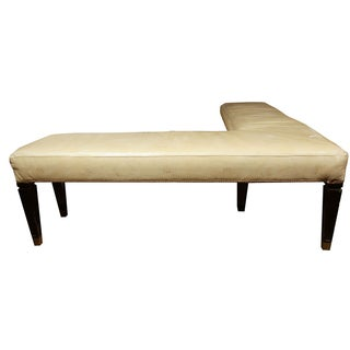 Maison Jansen Leather L Bench