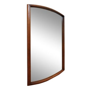United Mid Century Modern Walnut Wall Mirror