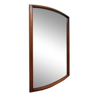 United Mid Century Modern Walnut Wall Mirror
