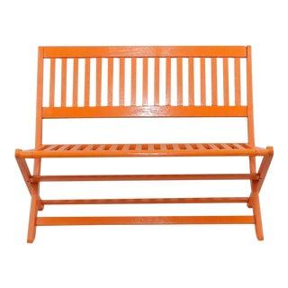 Painted Orange Kid's Bench