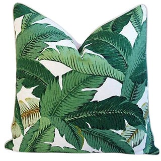 Custom-Tailored Tropical Iconic Banana Leaf Feather/Down Pillow