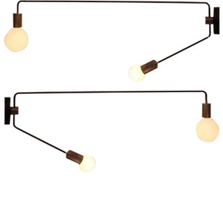 Four Articulating Wall Arm Sconces
