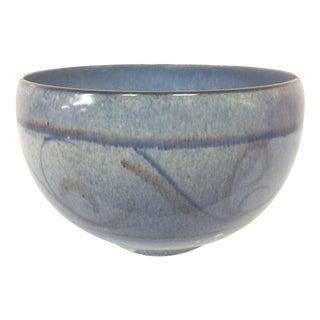 Edwin & Mary Scheier Blue Pottery Bowl