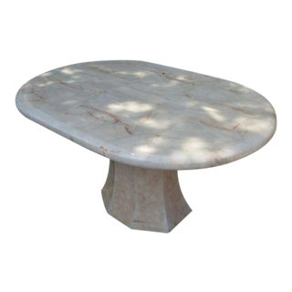 Racetrack Onyx Pedestal Dining Table