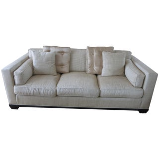 Baker Reeded Base Sofa by Barbara Barry