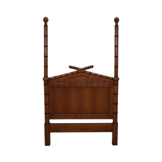 Faux Bamboo Twin Size Poster Headboard Bed