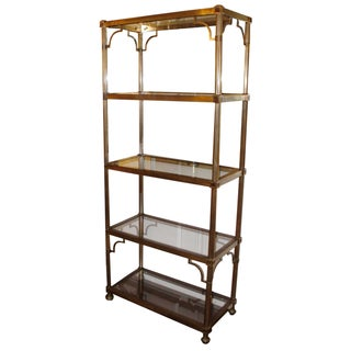 Chinoiserie Brass Etagere